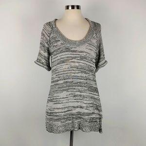 CAbi Black & White Knit Tunic S